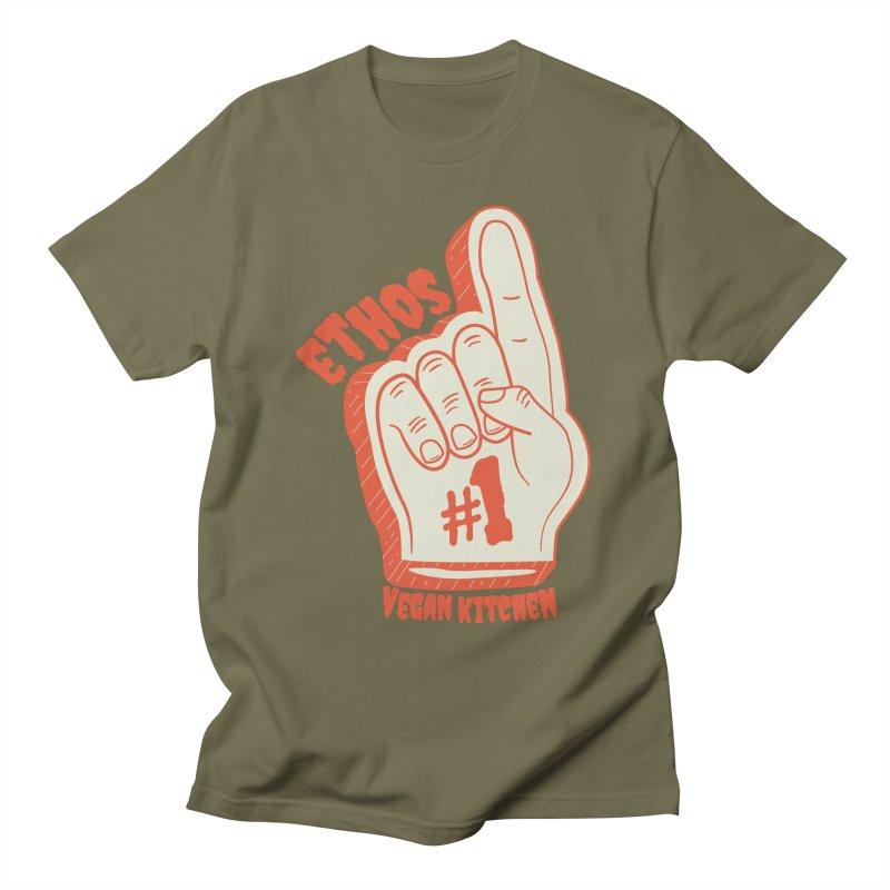 Number 1! Men's T-Shirt by Ethos Vegan Kitchen's Logo Shop