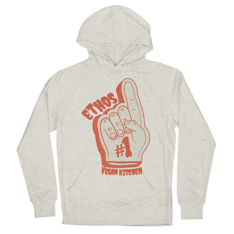 Number 1! Women's French Terry Pullover Hoody by Ethos Vegan Kitchen's Logo Shop
