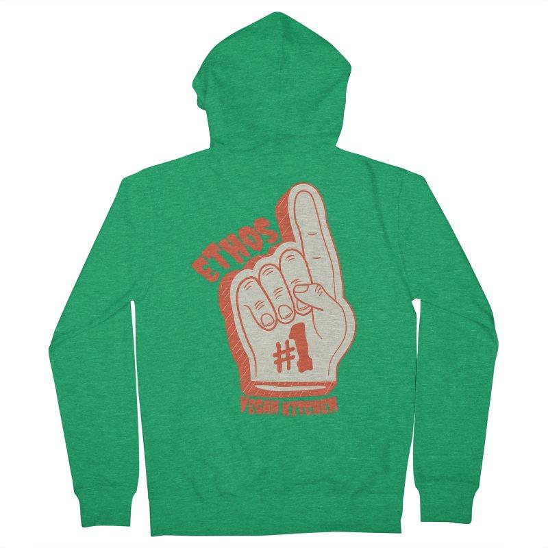 Number 1! Men's Zip-Up Hoody by Ethos Vegan Kitchen's Logo Shop