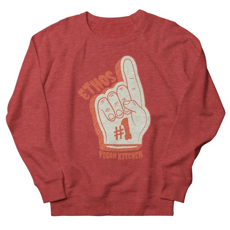 Number 1! Women's French Terry Sweatshirt by Ethos Vegan Kitchen's Logo Shop