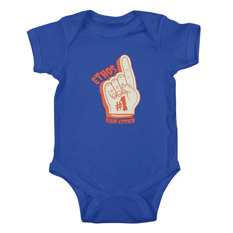 Number 1! Kids Baby Bodysuit by Ethos Vegan Kitchen's Logo Shop