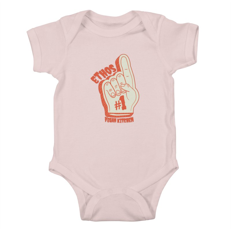 Number 1! Kids Baby Bodysuit by Ethos Vegan Kitchen's Logo Shop