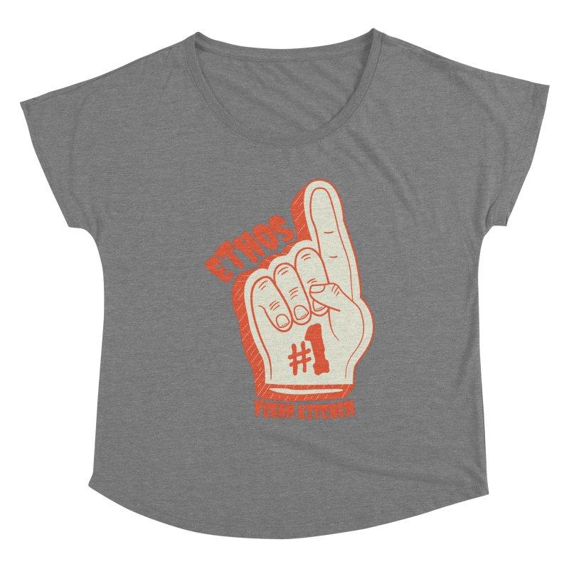 Number 1! Women's Scoop Neck by Ethos Vegan Kitchen's Logo Shop