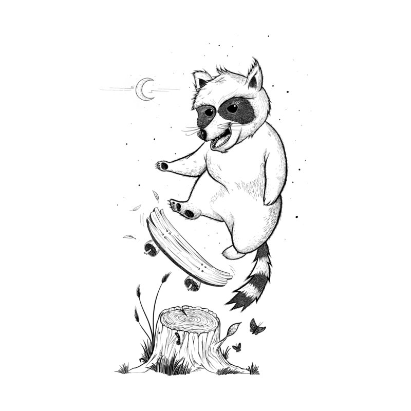 Flippin Racoon Men's T-Shirt by ETIENNE LAURENT