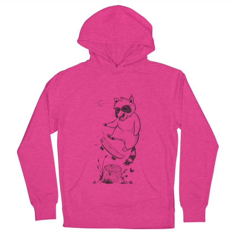 Flippin Racoon Women's French Terry Pullover Hoody by ETIENNE LAURENT