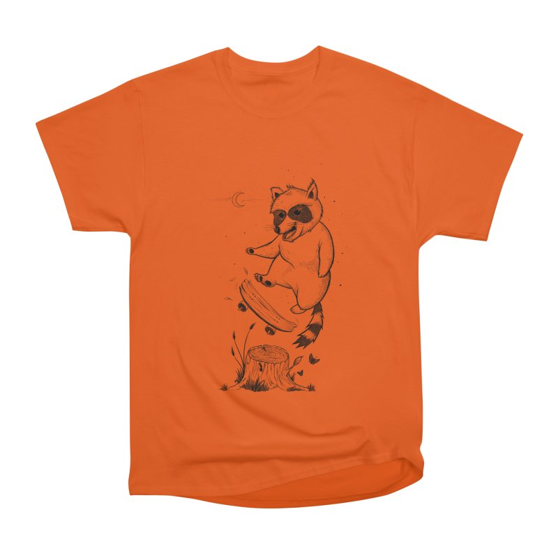Flippin Racoon Men's Heavyweight T-Shirt by ETIENNE LAURENT