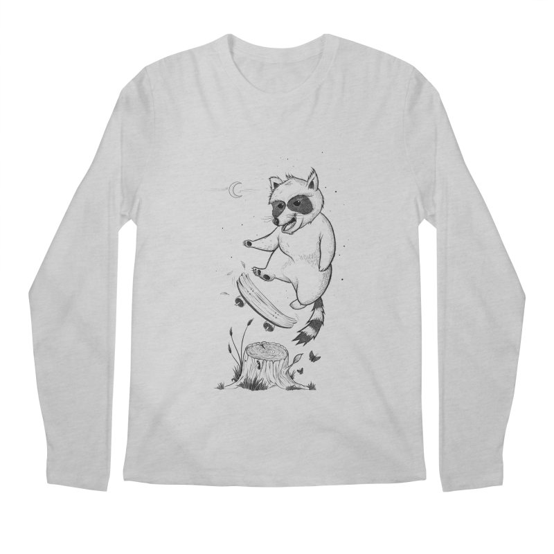 Flippin Racoon Men's Regular Longsleeve T-Shirt by ETIENNE LAURENT