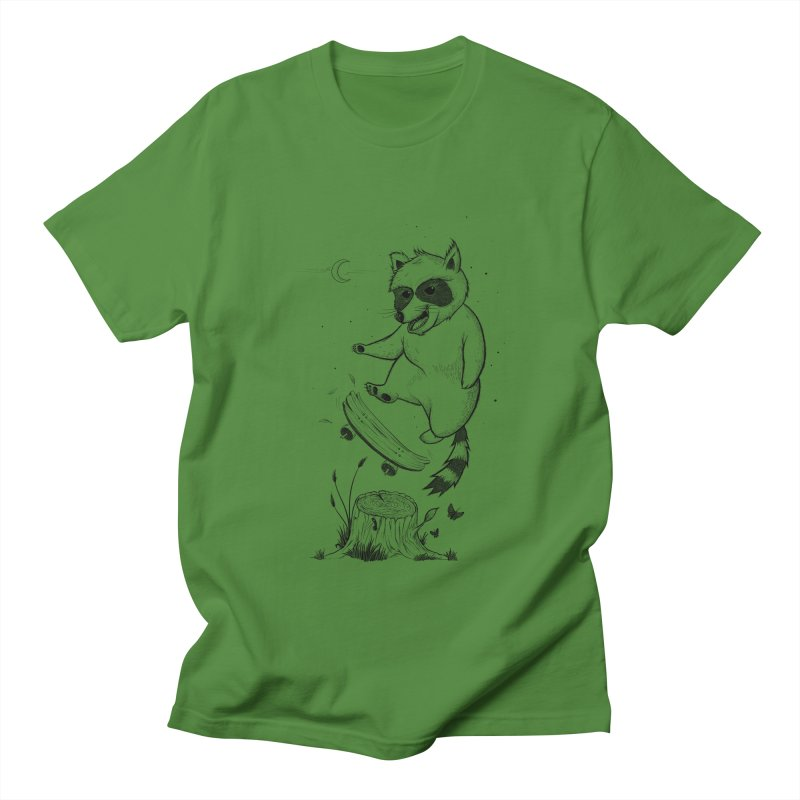 Flippin Racoon Men's Regular T-Shirt by ETIENNE LAURENT