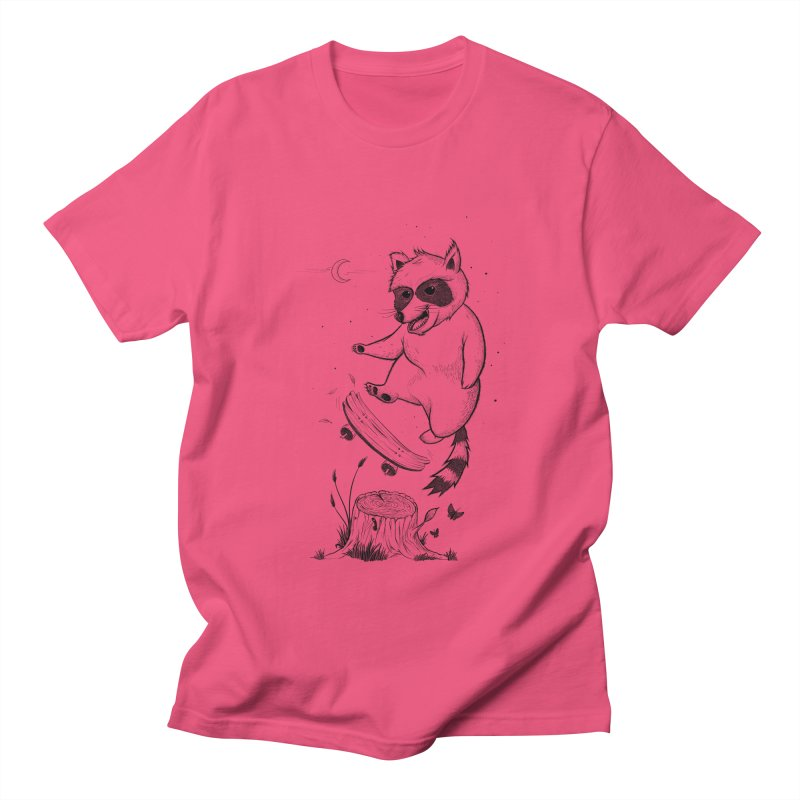 Flippin Racoon Women's Regular Unisex T-Shirt by ETIENNE LAURENT