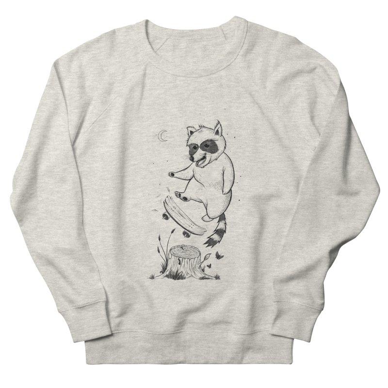 Flippin Racoon Women's French Terry Sweatshirt by ETIENNE LAURENT