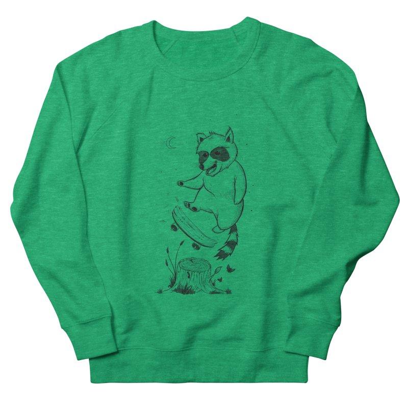 Flippin Racoon Men's French Terry Sweatshirt by ETIENNE LAURENT