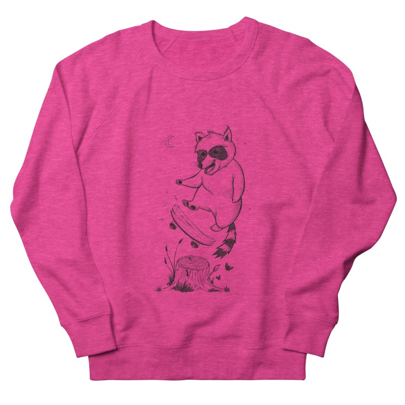 Flippin Racoon Men's French Terry Sweatshirt by ETIENNE LAURENT