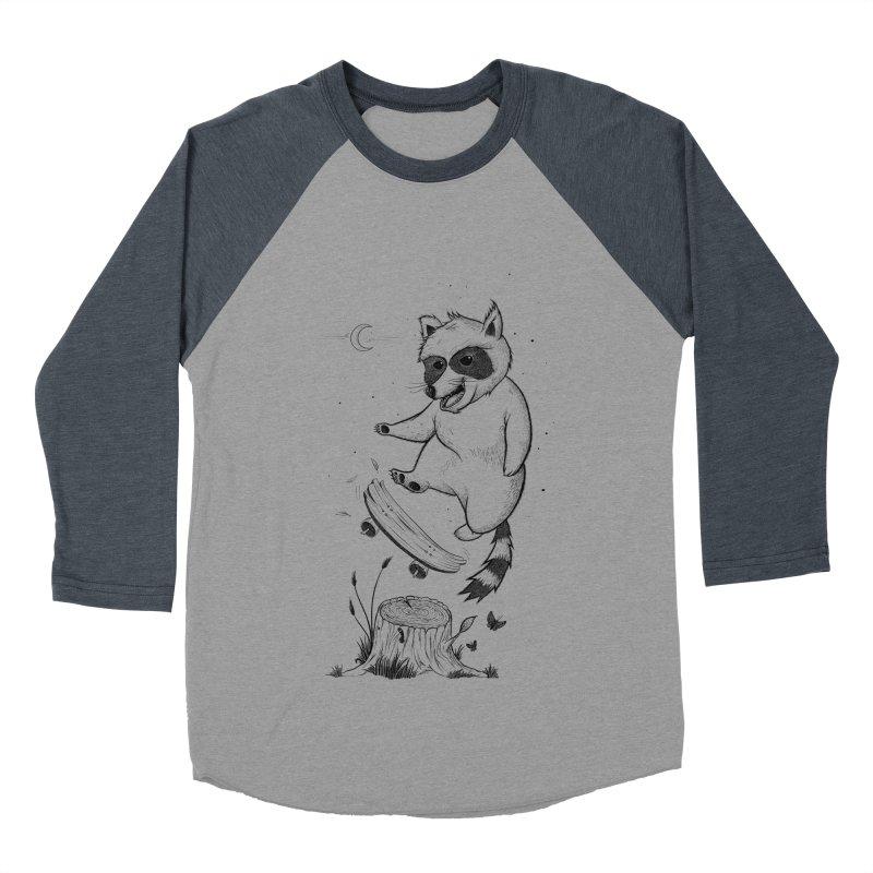 Flippin Racoon Women's Baseball Triblend Longsleeve T-Shirt by ETIENNE LAURENT