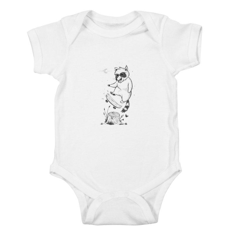 Flippin Racoon Kids Baby Bodysuit by ETIENNE LAURENT