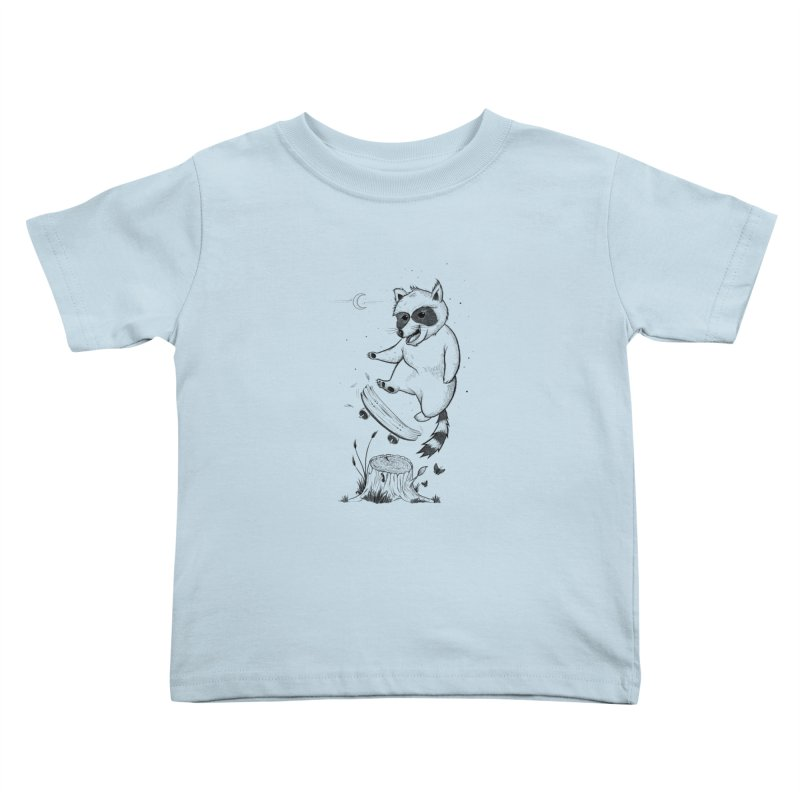 Flippin Racoon Kids Toddler T-Shirt by ETIENNE LAURENT