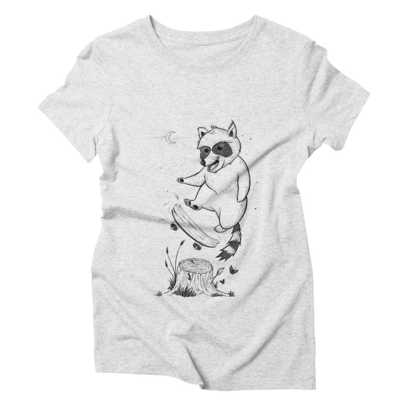 Flippin Racoon Women's Triblend T-Shirt by ETIENNE LAURENT