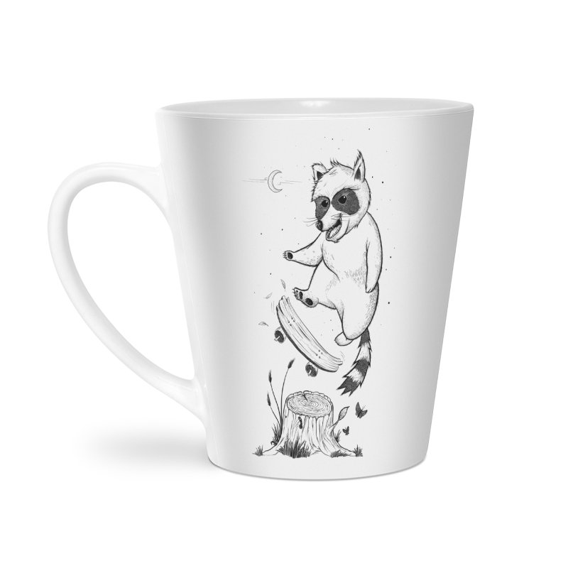 Flippin Racoon Accessories Latte Mug by ETIENNE LAURENT