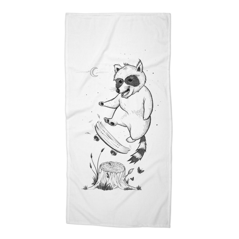 Flippin Racoon Accessories Beach Towel by ETIENNE LAURENT