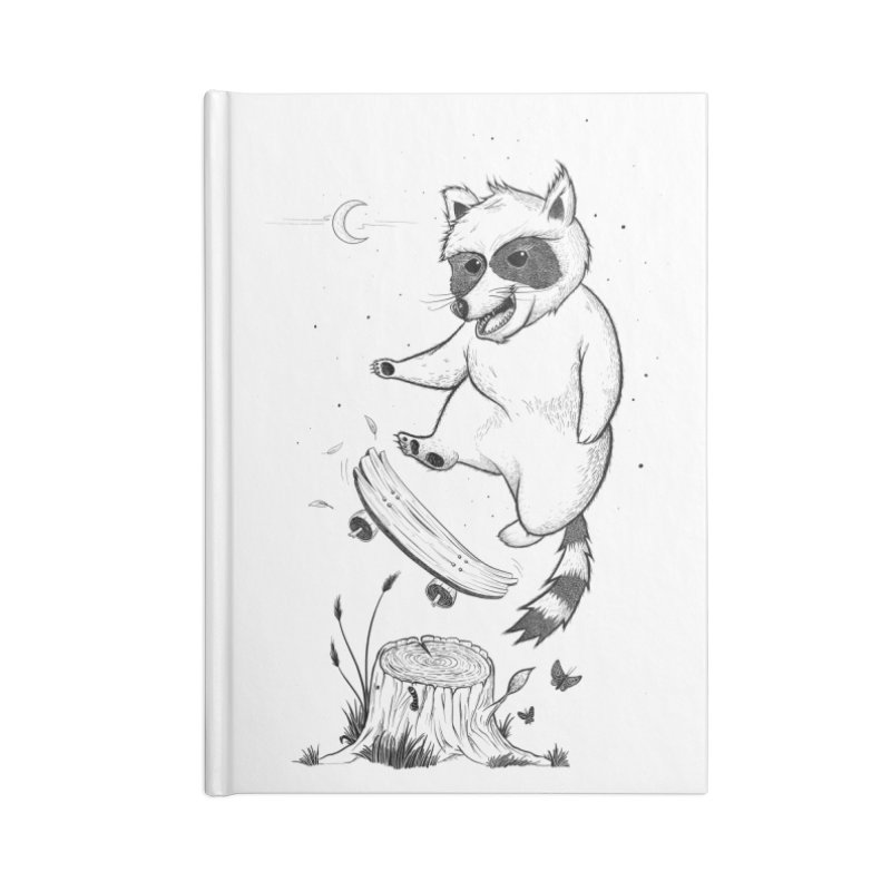 Flippin Racoon Accessories Lined Journal Notebook by ETIENNE LAURENT