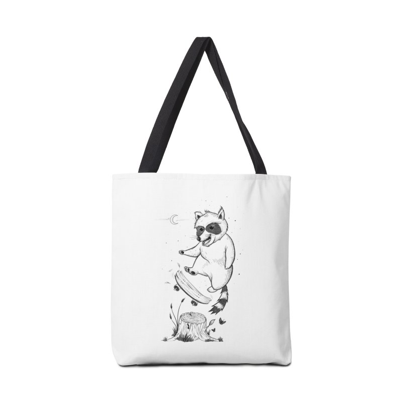 Flippin Racoon Accessories Tote Bag Bag by ETIENNE LAURENT