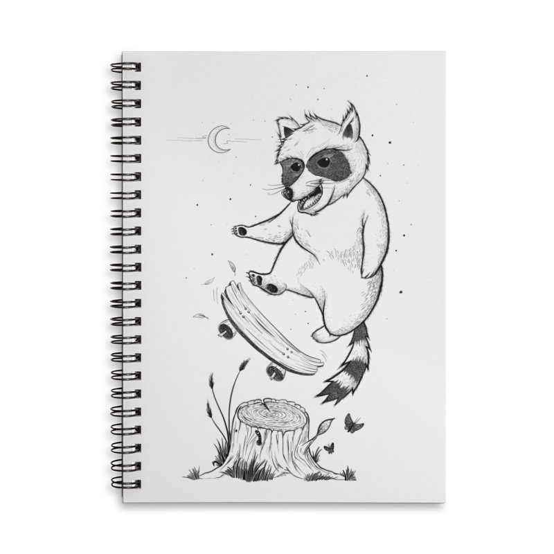 Flippin Racoon Accessories Lined Spiral Notebook by ETIENNE LAURENT