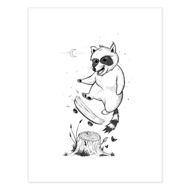 Flippin Racoon Home Fine Art Print by ETIENNE LAURENT