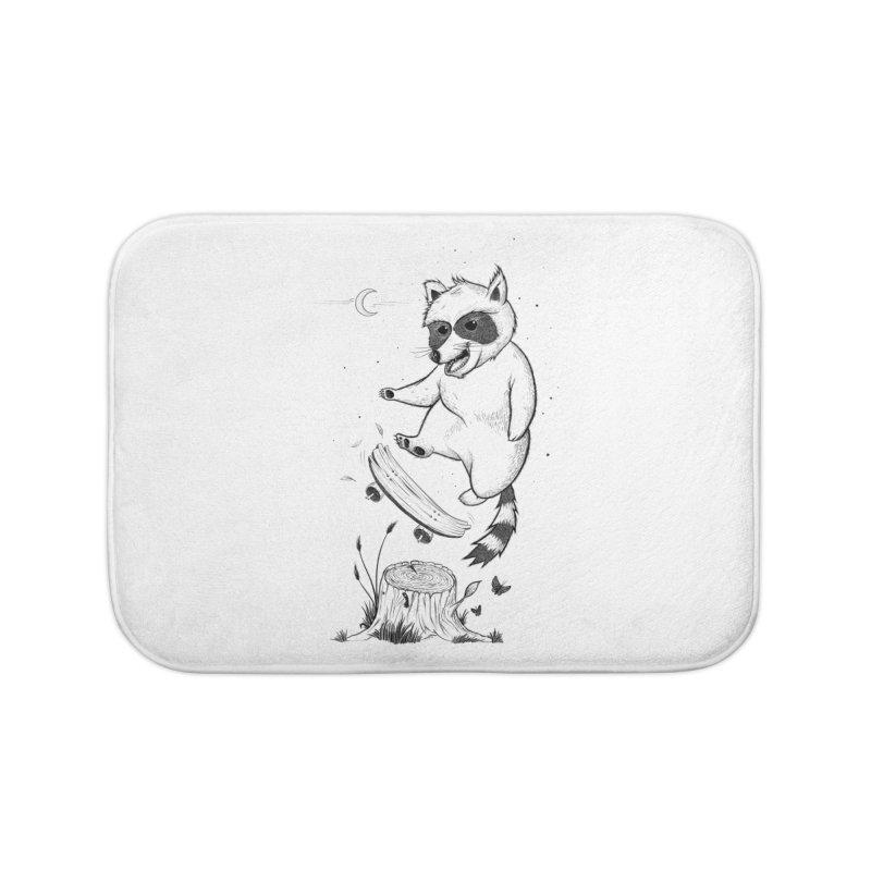 Flippin Racoon Home Bath Mat by ETIENNE LAURENT