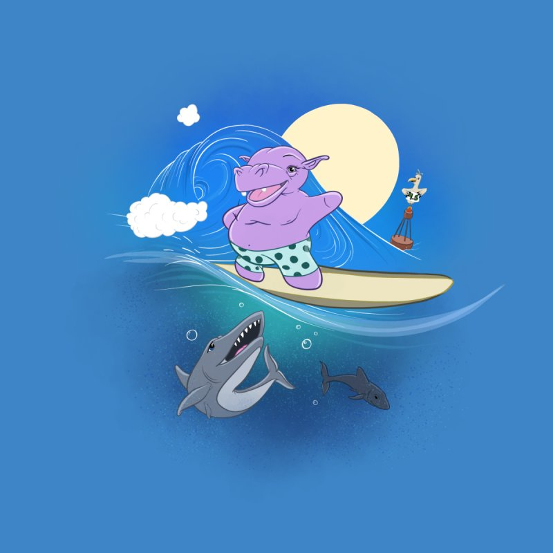 Surfing hippo by ETIENNE LAURENT
