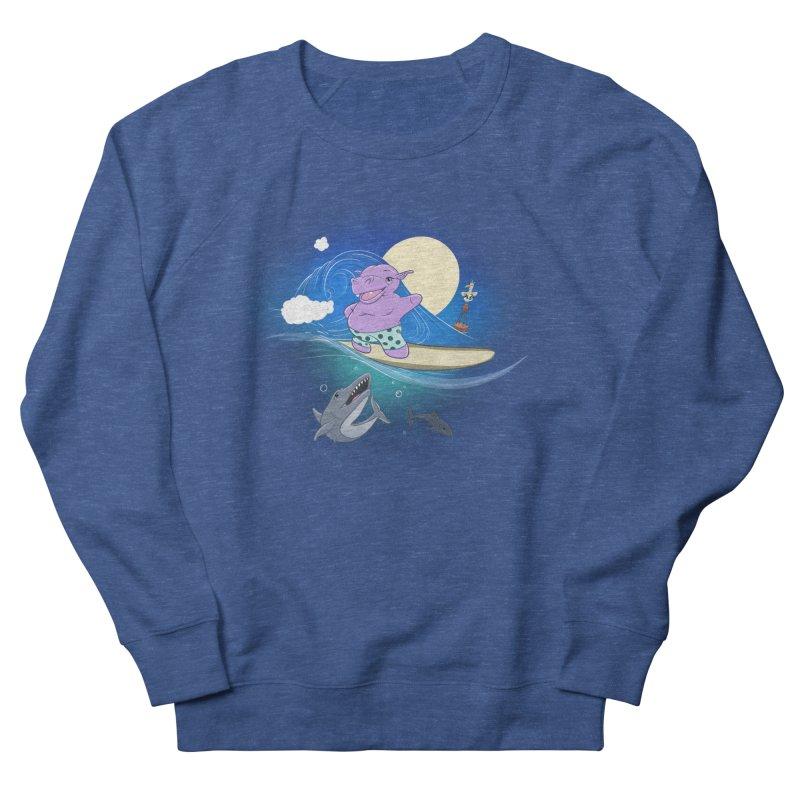 Surfing hippo Men's Sweatshirt by ETIENNE LAURENT