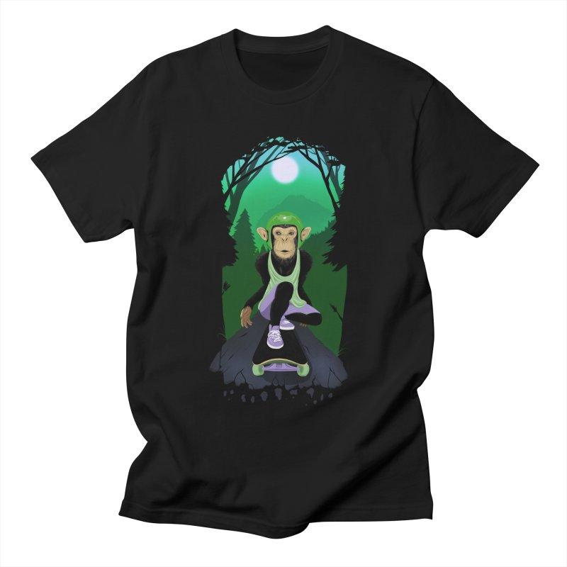 Downhill chimp Women's Regular Unisex T-Shirt by ETIENNE LAURENT