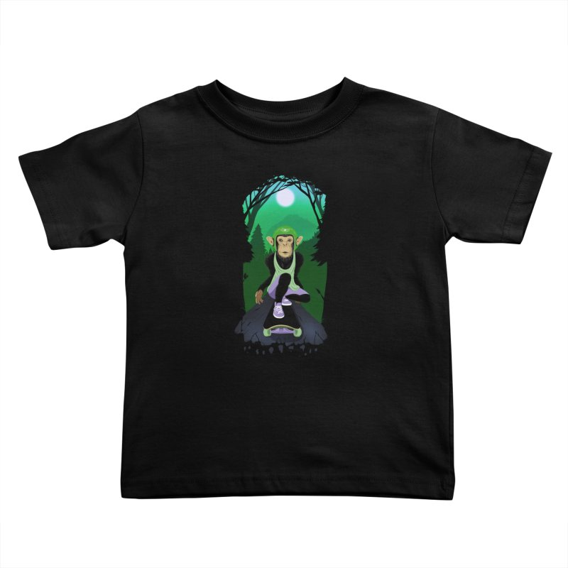Downhill chimp Kids Toddler T-Shirt by ETIENNE LAURENT