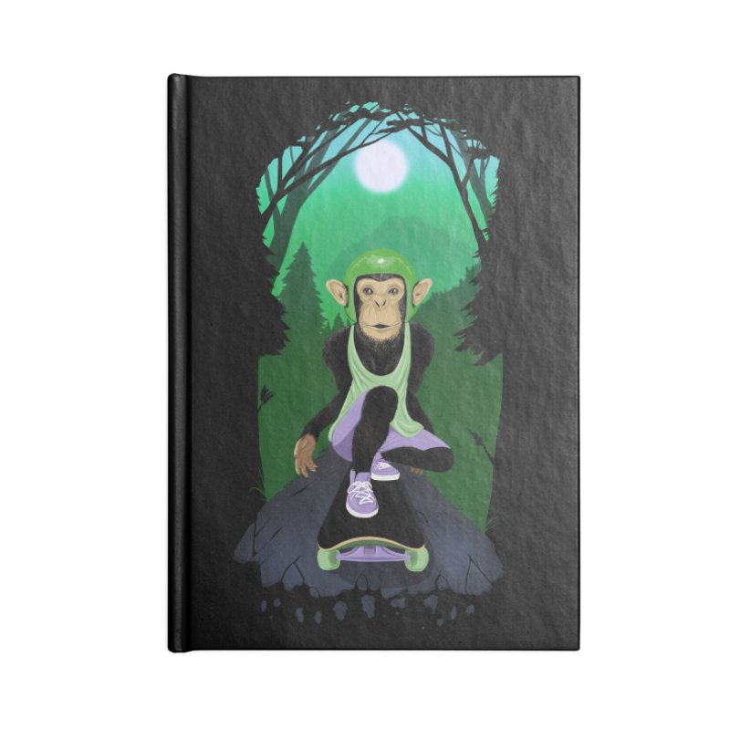 Downhill chimp Accessories Lined Journal Notebook by ETIENNE LAURENT