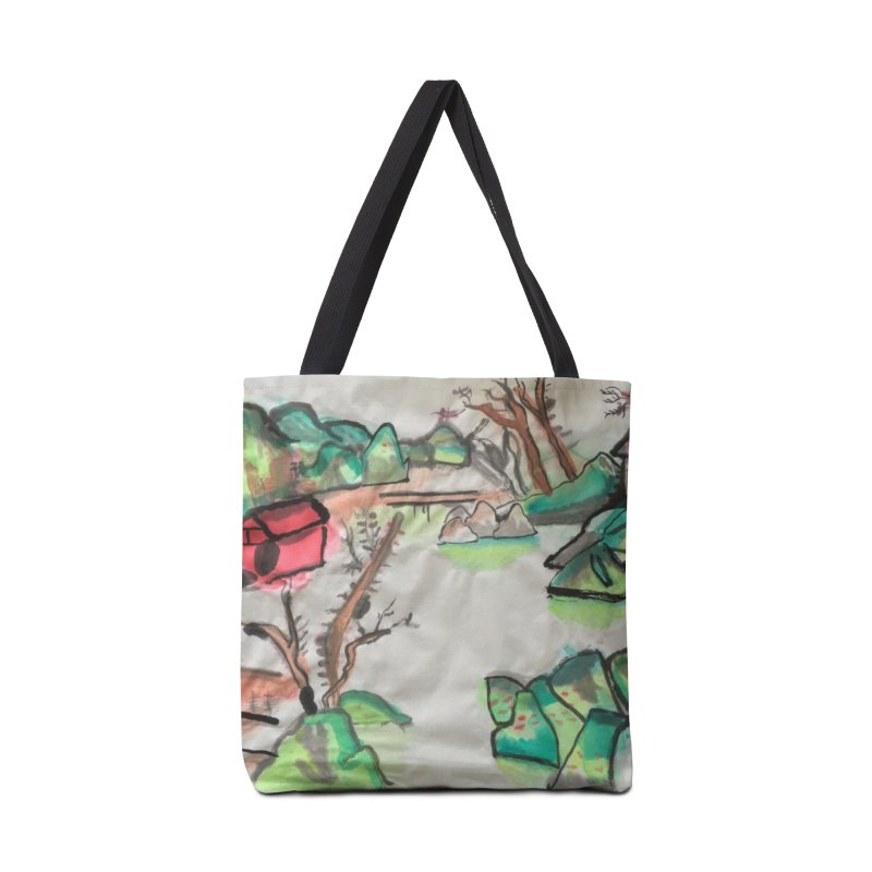 Scenery (Chinese calligraphy) Accessories Tote Bag Bag by Eva's Doodle & Paintings