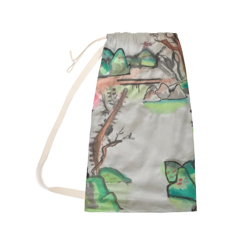 Scenery (Chinese calligraphy) Accessories Laundry Bag Bag by Eva's Doodle & Paintings