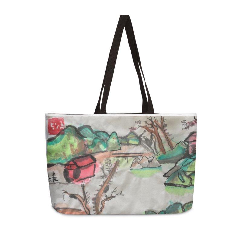 Scenery (Chinese calligraphy) Accessories Weekender Bag Bag by Eva's Doodle & Paintings