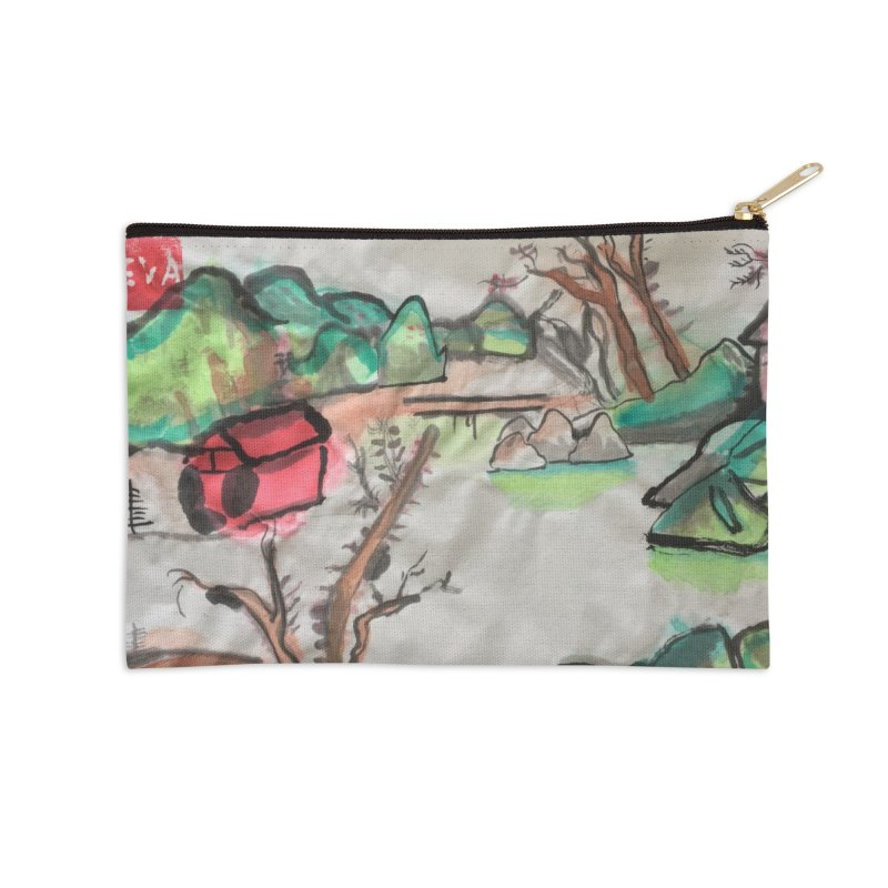 Scenery (Chinese calligraphy) Accessories Zip Pouch by Eva's Doodle & Paintings