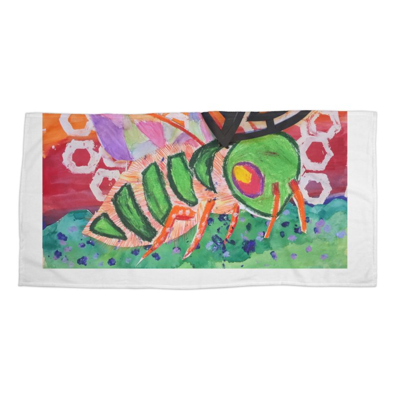 Bee Natural Accessories Beach Towel by Eva's Doodle & Paintings