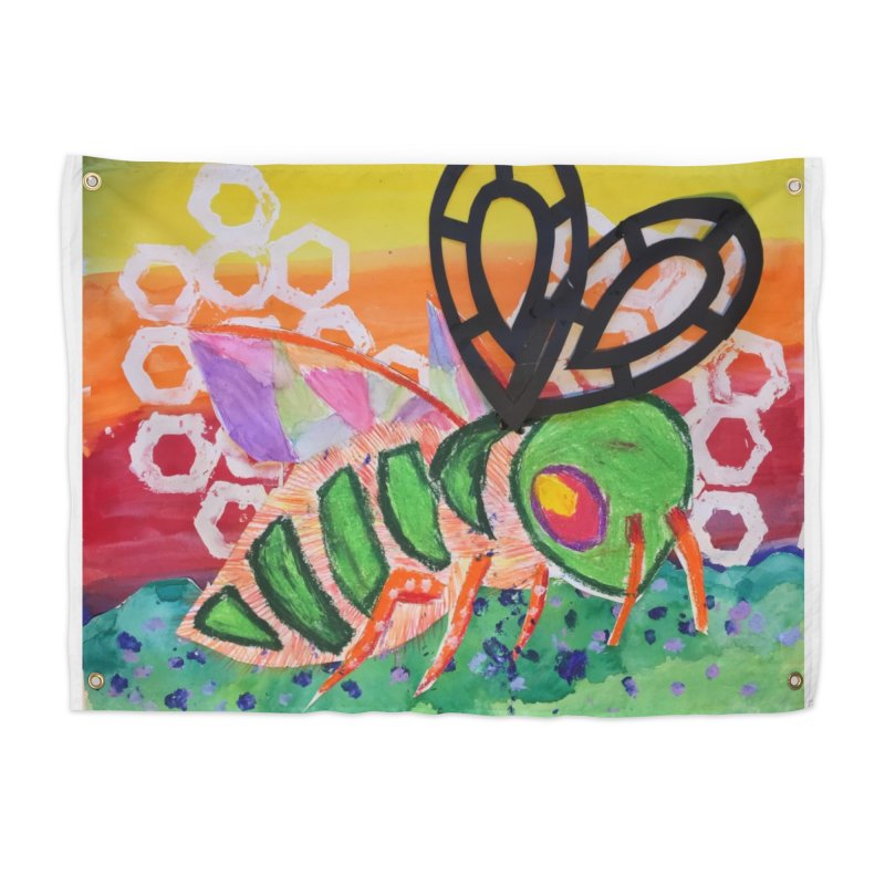 Bee Natural Home Tapestry by Eva's Doodle & Paintings