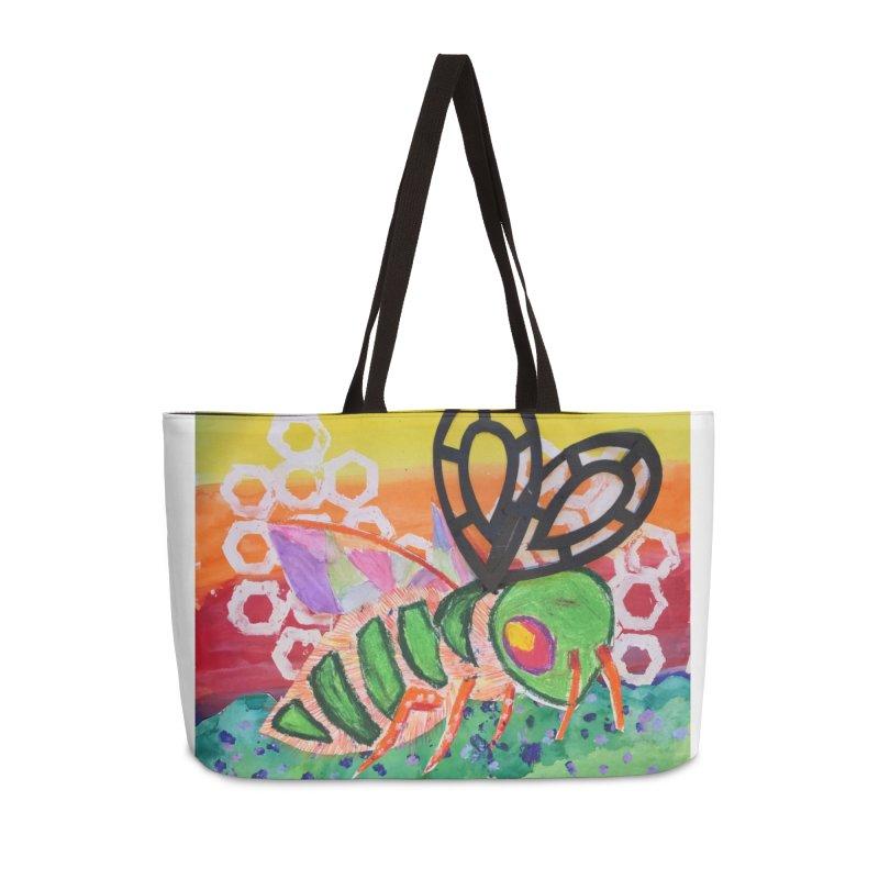 Bee Natural Accessories Weekender Bag Bag by Eva's Doodle & Paintings
