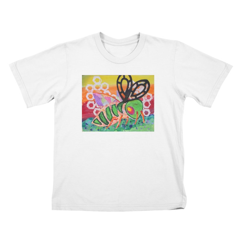 Bee Natural Kids T-Shirt by Eva's Doodle & Paintings