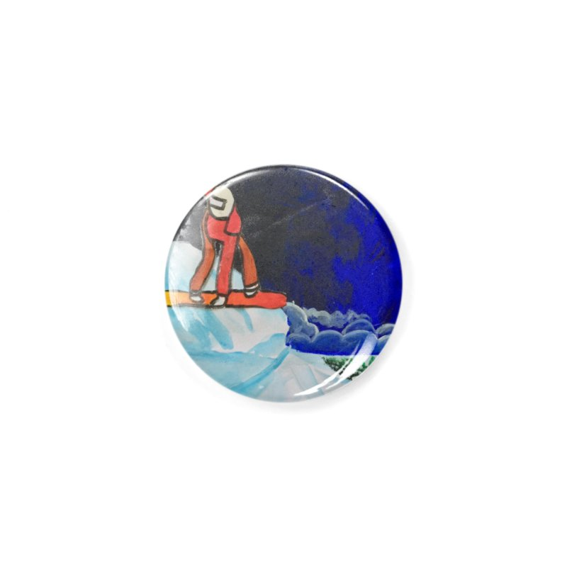 Solo Ski Accessories Button by Eva's Doodle & Paintings