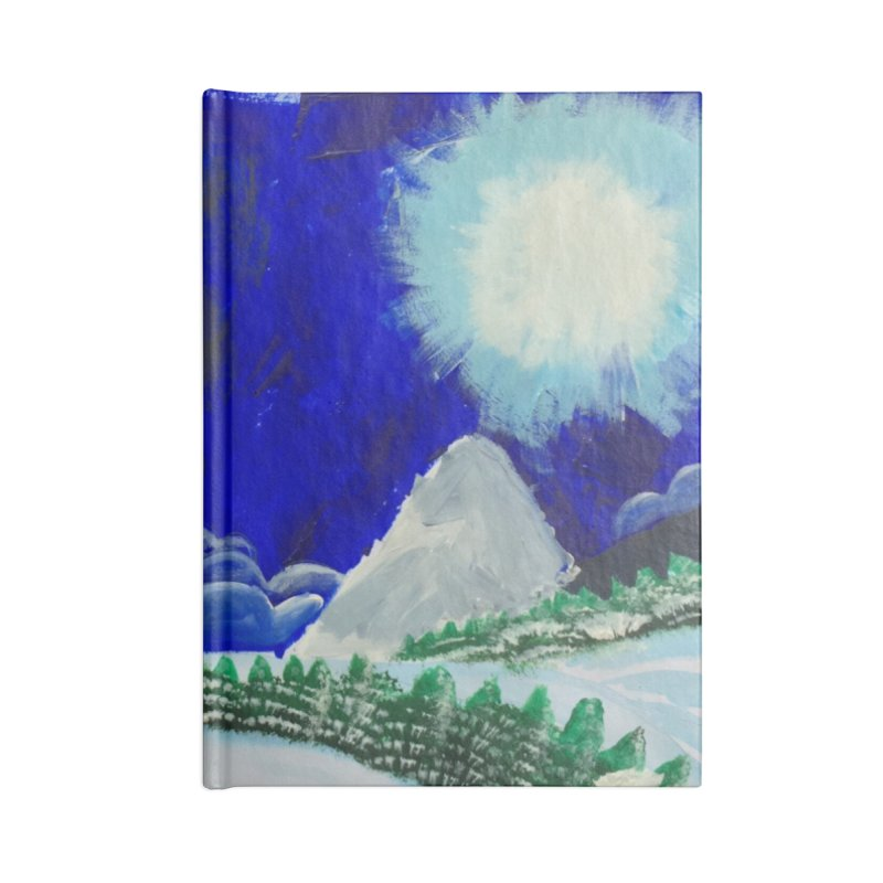 Solo Ski Accessories Lined Journal Notebook by Eva's Doodle & Paintings