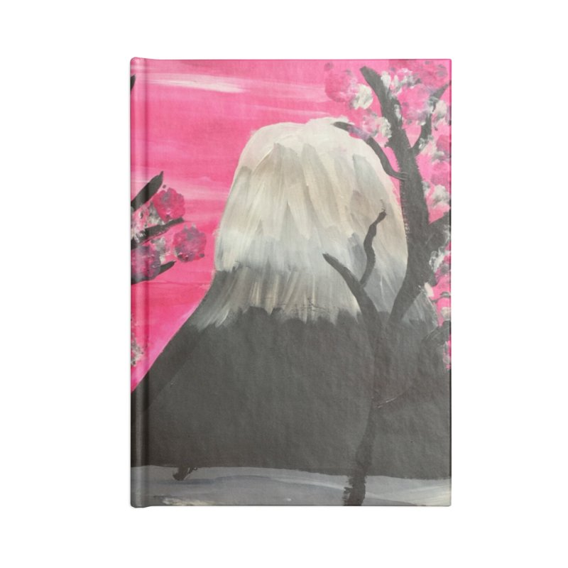 Mount Fuji Accessories Lined Journal Notebook by Eva's Doodle & Paintings