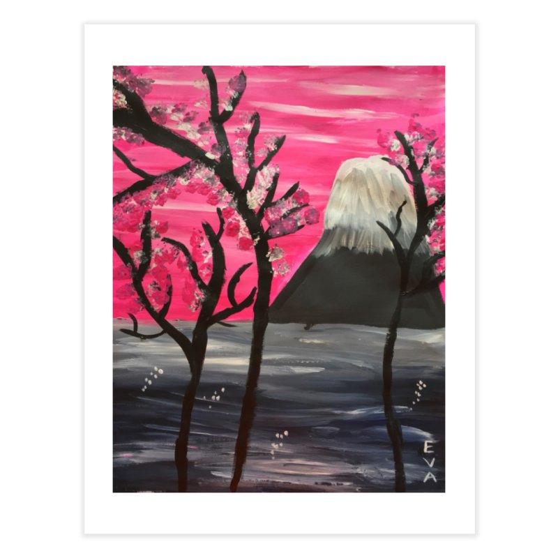 Mount Fuji Home Fine Art Print by Eva's Doodle & Paintings