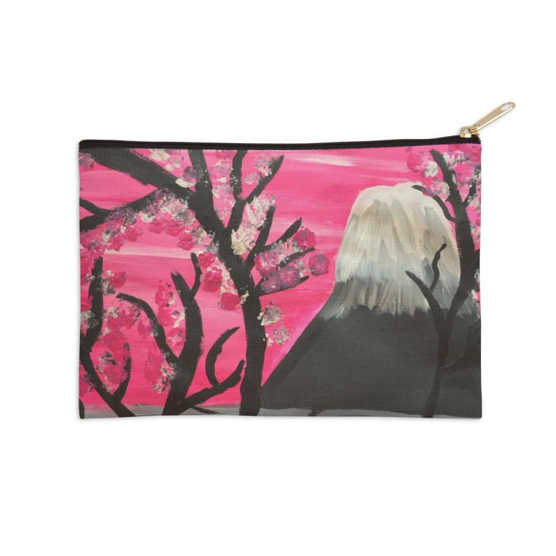 Mount Fuji Accessories Zip Pouch by Eva's Doodle & Paintings