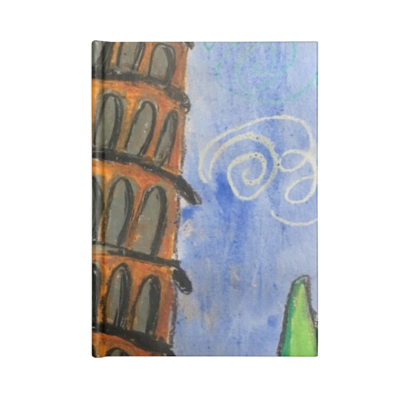 Leaning Tower Accessories Lined Journal Notebook by Eva's Doodle & Paintings