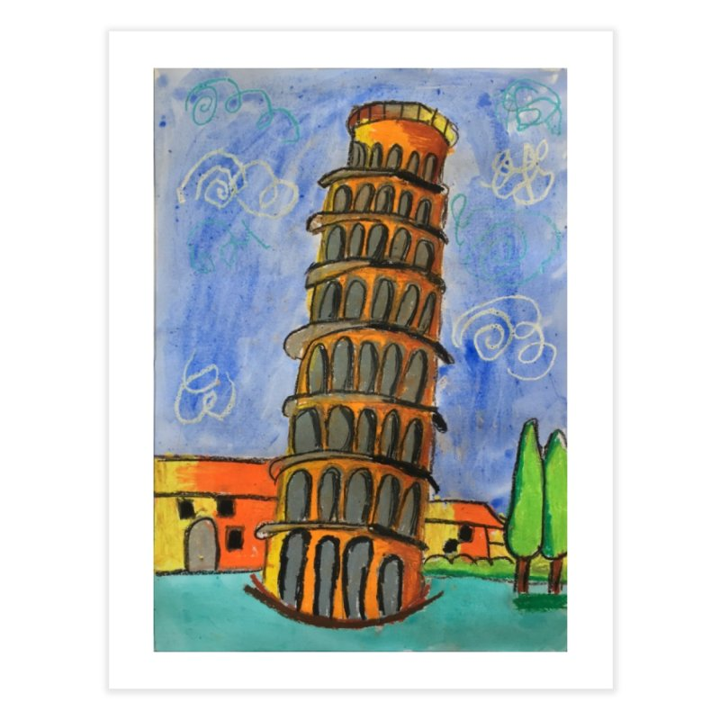 Leaning Tower Home Fine Art Print by Eva's Doodle & Paintings