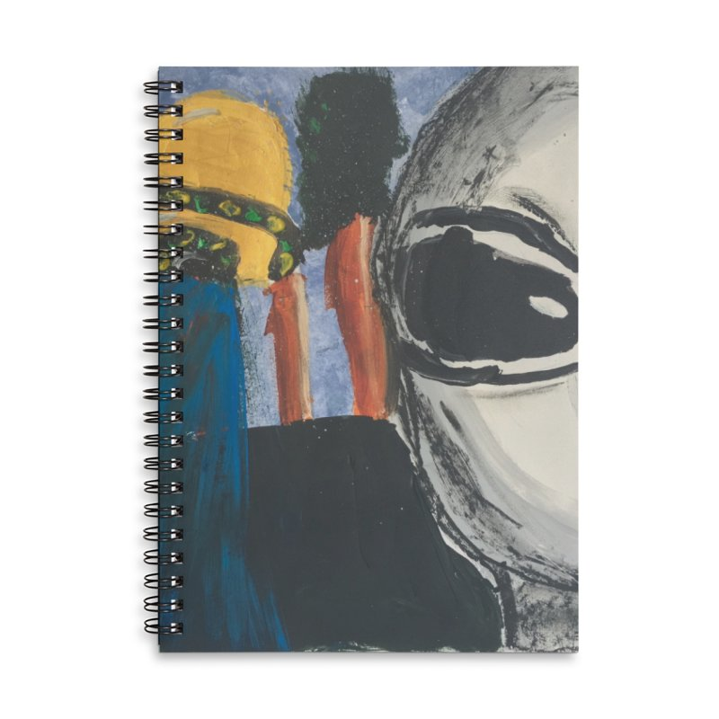 Alien Abduction Accessories Lined Spiral Notebook by Eva's Doodle & Paintings