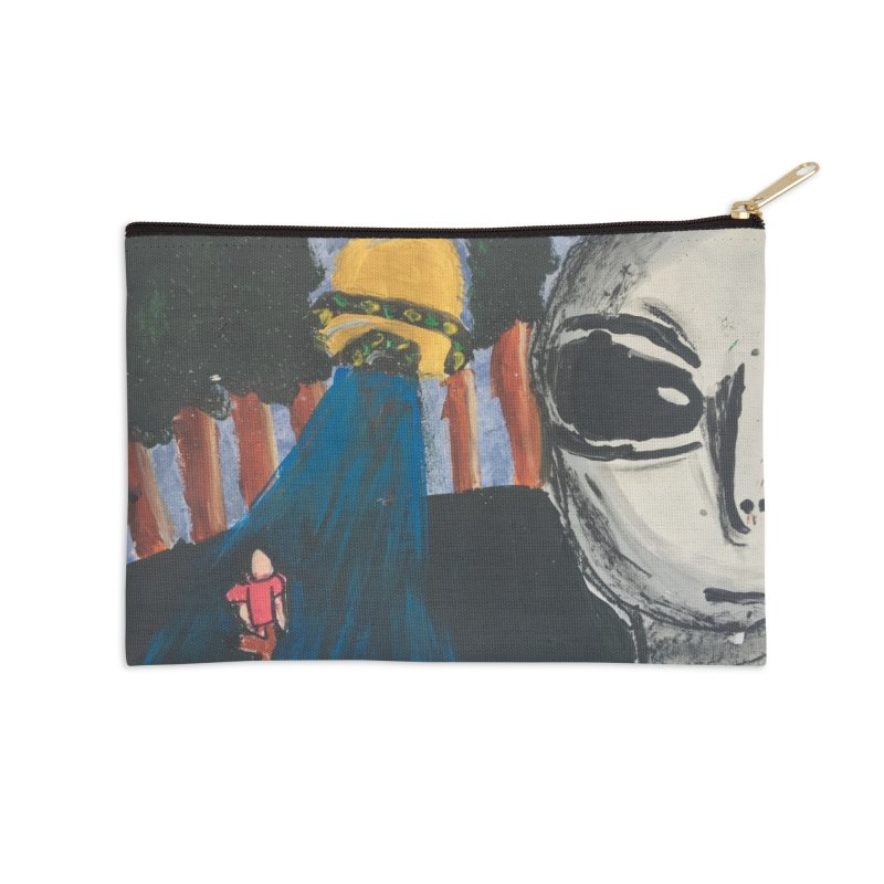 Alien Abduction Accessories Zip Pouch by Eva's Doodle & Paintings
