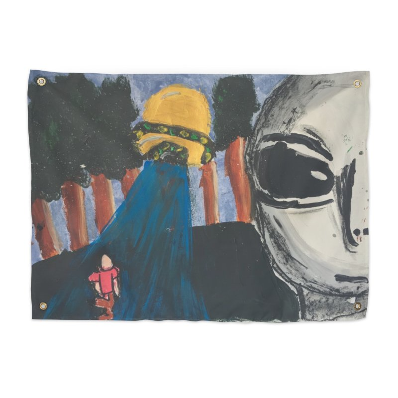 Alien Abduction Home Tapestry by Eva's Doodle & Paintings